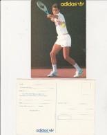 CARTE POSTALE  PUBLICITAIRE ADIDAS - JOUEUR LENDL- - Tennis
