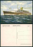 BARCOS SHIP BATEAU PAQUEBOT STEAMER [BARCOS #01068] - PORTUGAL COMPANHIA COLONIAL NAVEGAÇÃO - SANTA MARIA - 1-965 - Paquebots
