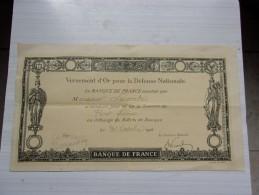 Versement D'or Pour La Defense Nationale (1916) - Non Classés