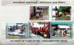 BANGLADESH- 2007 CHARITY FOR FLOOD VICTIMS- 5 V SET IN BLOCK- MNH - Bangladesch