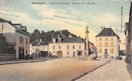 """SAINT-DIE - Place De L'Hopital - Fontaine De La Meurthe - Marchand De Vin """"CORETTE"""" - Boulangerie, Epicerie """"ANTOINE"""" - Saint Die"""