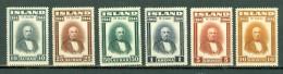 Island - 1944 - Yv. 202/207**, Facit 268/273** Cote Yv. 85,50 € - Ungebraucht