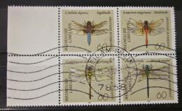 Briefmarken Bund BRD 1991 Vierer Block Rand Links Zusammendruck Libellen - [7] Federal Republic