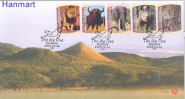 Republic Of South Africa 2006 Mi 1692-1696 FDC- Wild Cats, Elephants, Rhinoceroses - Elefanti
