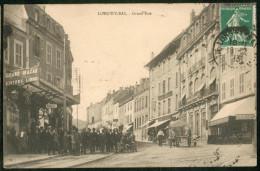 Longwy-Bas -  Grand'Rue  (foule Devant Le Grand Bazar - Longwy