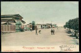 Cartolina   Viareggio   -  Passeggiata Lungo Mare - Lucca