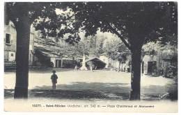 Cpa Saint Félicien - Place Chanterous Et Monument - France