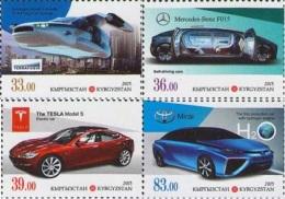 Kyrgyzstan 2015 Cars Of XXI Century 4v MNH - Kyrgyzstan