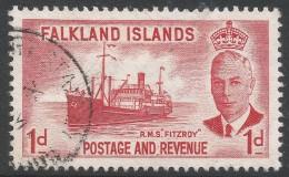 Falkland Islands. 1952 KGVI. 1d Used. SG 173 - Falkland Islands