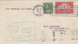KING GEORGE V, PARLIAMENT PALACE, STAMPS ON COVER, 1928, CANADA - 1911-1935 Règne De George V