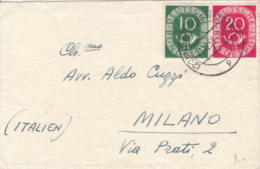 POSTHORN, STAMPS ON LILIPUT COVER, 1953, GERMANY - Lettres & Documents