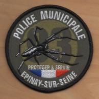 Ecusson Patch POLICE MUNICIPALE Ville D´ EPINAY-SUR-SEINE ( 93 - Seine-Saint-Denis ) Pour Collection - Police & Gendarmerie