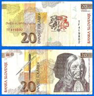 Slovenie 20 Tolarjev 1992 Tolar Que Prix + Port Serie TF Valvasor Skrill Paypal Bitcoin OK - Slovénie