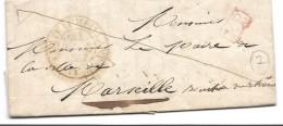CHATEAUMEILLANT Cher CAD Type 13 Du 21.1.1847 + Griffe PP Rouge ...... ...G - Marcophilie (Lettres)