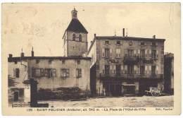 Cpa Saint Félicien - La Place De L'Hôtel De Ville - France
