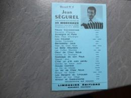 LIMOUSIN :   Accordéon,  Jean SEGUREL, Recueil N°3, 23 Morceaux   Partition Originale Vers 1950 ? ; Ref PAR 02 - Partitions Musicales Anciennes