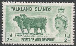 Falkland Islands. 1966 QEII. Birds. ½d MH Sideways Block CA W/M. SG 227 - Falkland Islands