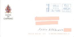 EMA HP 139194 Morbihan Sur Enveloppe Mairie De Carnac - Armoiries Blason Bateau - Omslagen