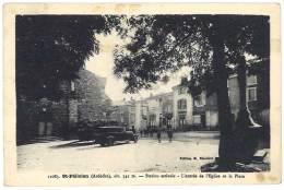 Cpa Saint Félicien - Station Estivale - L'entrée De L'église Et La Place - France