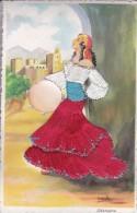 POSTAL DE ROPA Y PAPEL DE UNA SEVILLANA BAILANDO (SEVILLA-BAILE-ANDALUCIA) GRANADA - Bailes