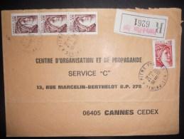 Guadeloupe , Lettre Recommande De Pointe A Pitre 1981 Pour Cannes - Guadalupe (1884-1947)