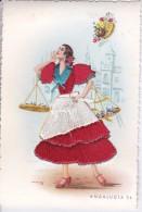 POSTAL DE ROPA Y PAPEL DE UNA ANDALUZA VENDIENDO PESCADO (SEVILLA-ANDALUCIA) - Bailes