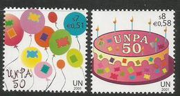 2001, UNO-Wien, 342/43, 50 Jahre Postverwaltung Der Vereinten Nationen (UNPA).  MNH ** - Wien - Internationales Zentrum
