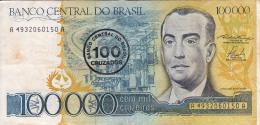 BRESIL - BILLET DE 100 000  CRUZEIROS - 1985 - Brésil