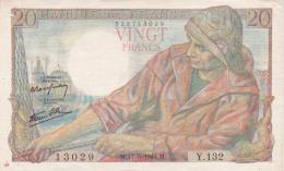 FRANCE - BILLET DE 20 FRANCS - 1942 - 1871-1952 Anciens Francs Circulés Au XXème