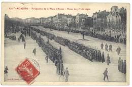 Cpa Romans - Perspective De La Place D'Armes - Revue Du 75e De Ligne - Romans Sur Isere