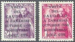 ESPAÑA 1951 - Edifil #1088/89 - MNH ** - 1951-60 Nuevos & Fijasellos