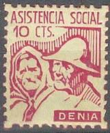 ESPAÑA - GUERRA CIVIL 1936/39 (DENIA) - MNH ** - Viñetas De La Guerra Civil