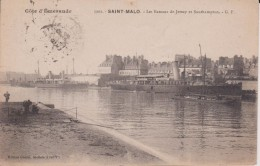 """35 ILLE ET VILAINE SAINT MALO   """"  Les Bateaux De Jersey Et Southampton """"  GF N° 3902 - Saint Malo"""
