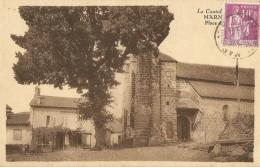 Marmanhac   (15.Cantal)  La Place De L´Eglise - Frankrijk