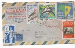 3033   Carta Aerea, Brasil, San Paulo, Sorocaba  1969 - Brasil