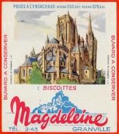 BUVARD Biscottes MAGDELEINE 50 GRANVILLE Manche - Cathédrale De COUTANCES - Zwieback