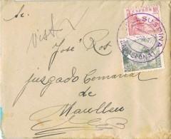 18345. Carta COLLSUSPINA (Barcelona) 1946. Fechador Especial Azul 34 Mm - 1931-Today: 2nd Rep - ... Juan Carlos I