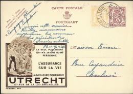 Publibel Obl. N° 803 ( Assurances UTRECHT) Obl: Cerfontaine 1948 - Interi Postali