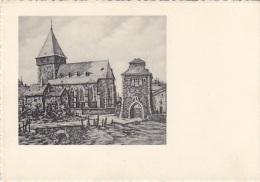 Belgique - Bastogne - Eglise St Pierre Et Porte De Trèves - Illustrateur Geo Fosty - Editions Géoluc - Bastenaken