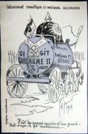 GUERRE DE 1914 CARICATURE PATRIOTIQUE  PROPAGANDE ANTI ALLEMANDE ENTERREMENT EN VIDANGEUR  KRIEG  MILITARIA - Guerre 1914-18
