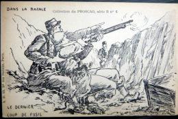 GUERRE DE 1914 CARICATURE PATRIOTIQUE  PROPAGANDE ANTI ALLEMANDE LE DERNIER COUP DE FUSIL KRIEG MILITARIA - Guerre 1914-18