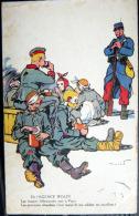 GUERRE DE 1914 CARICATURE PATRIOTIQUE  PROPAGANDE ANTI ALLEMANDE MENSONGES DE L'AGENCE WOLFF    KRIEG MILITARIA - Guerre 1914-18