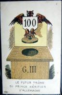 GUERRE DE 1914 CARICATURE PATRIOTIQUE  PROPAGANDE ANTI ALLEMANDE LE FUTUR TRONE COURAGEUX KRIEG MILITARIA - Guerre 1914-18
