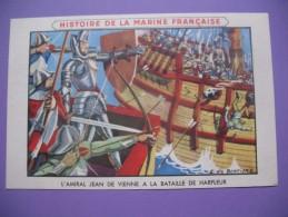 """CPA     Histoire De La Marine Française   """" L'Amiral Jean De Vienne à La Bataille De Harfleur """" - Geschiedenis"""