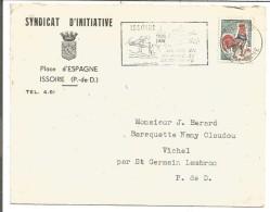 LETTRE A EN TETE DE ISSOIRE (PUY DE DOME) 1965 - Postmark Collection (Covers)