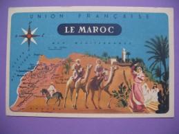 """CPA    Union  Française   """"  Le  Maroc  """" - Geschiedenis"""
