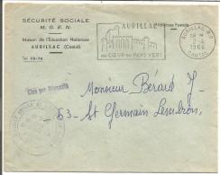 LETTRE A EN TETE DE AURILLAC (CANTAL) 1966 - Marcofilie (Brieven)