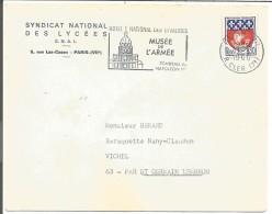 LETTRE A EN TETE DE PARIS VII 1966 - Marcophilie (Lettres)