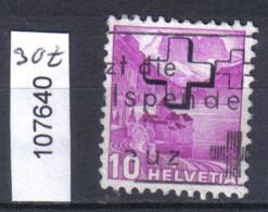 Schweiz, Bundesverwaltung Zst. / Mi. 30z O - Servizio