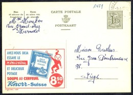 "CP Public. N° 1459  ""Potage Au Cerfeuil KNORR"" - Circulé - Circulated - Gelaufen - 1957. - Publibels"